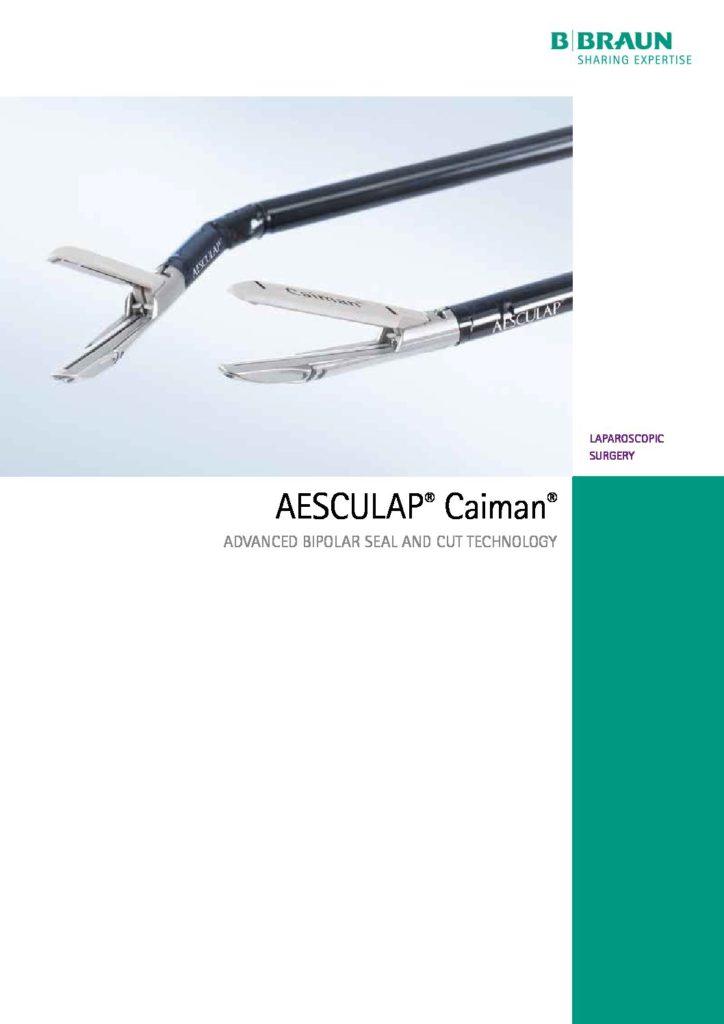 Aesculap Caiman Vessel Sealers Brochure